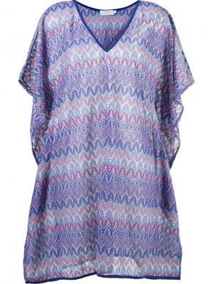 Трикотажное пляжное платье Brigitte. Цвет: синий