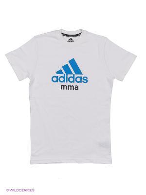 Футболка детская Community T-Shirt MMA Kids Adidas. Цвет: белый, синий
