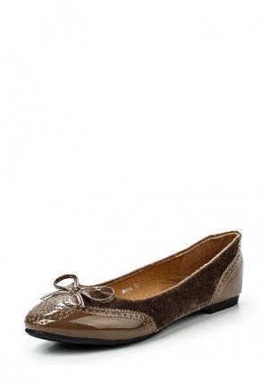 Балетки Exquily. Цвет: коричневый