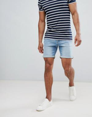 Selected Homme Джинсовые шорты. Цвет: синий