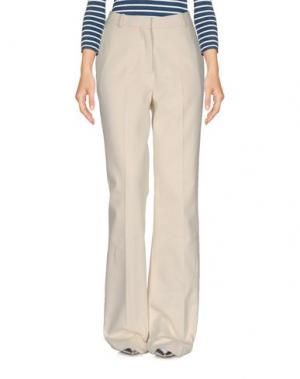Джинсовые брюки RIKA by ULRIKA LUNDGREN. Цвет: слоновая кость