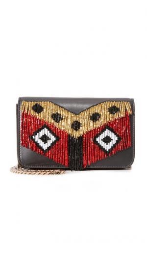 Миниатюрная сумка через плечо Janis Disco с бахромой les petits joueurs