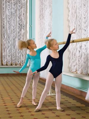 Гимнастический купальник Arina Ballerina. Цвет: голубой