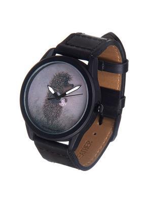 Часы Mitya Veselkov Ежик с котомкой Арт. MVBlack-19. Цвет: черный