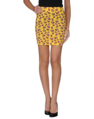 Мини-юбка IRON FIST. Цвет: желтый