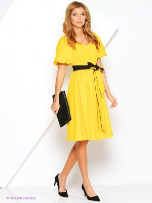Платье МадаМ Т. Цвет: желтый