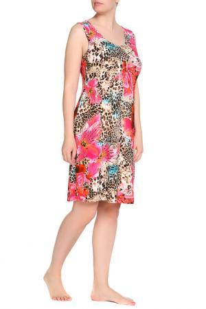 Платье домашнее Луиза LAVELLE. Цвет: цветной