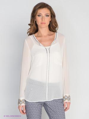 Блузка Aaiko. Цвет: белый, серый