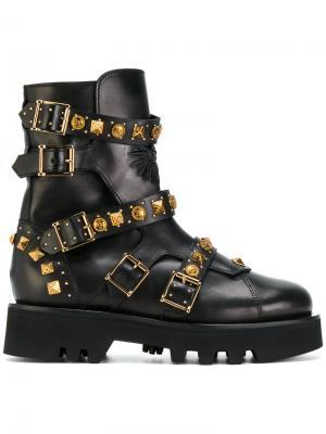 Ботинки с заклепками Fausto Puglisi. Цвет: чёрный