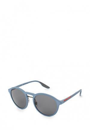 Очки солнцезащитные Prada Linea Rossa. Цвет: синий