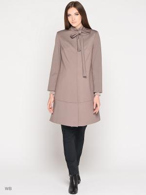 Пальто Trendy Tummy. Цвет: светло-коричневый
