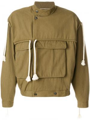 Пальто со шнуровкой Maison Margiela. Цвет: коричневый