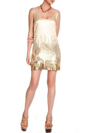 Платье Halston Heritage. Цвет: золотой