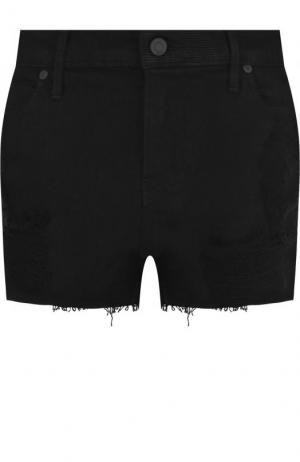 Джинсовые мини-шорты с потертостями RTA. Цвет: черный