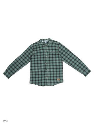 Рубашка Modis. Цвет: серо-зеленый, темно-зеленый, черный