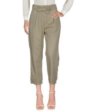 Повседневные брюки MARIUCCIA. Цвет: зеленый-милитари