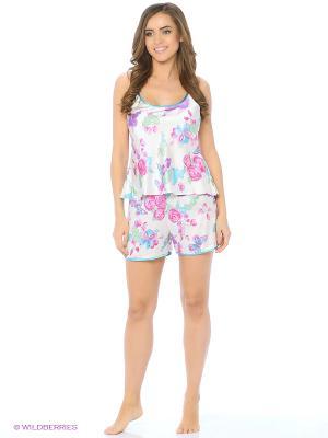 Пижама Del Fiore. Цвет: сиреневый, белый