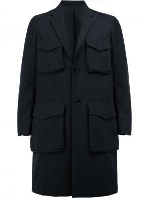 Пальто с накладными карманами Undercover. Цвет: синий