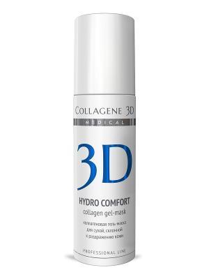 ГЕЛЬ ПРОФ Hydro Comfort 130 мл Medical Collagene 3D. Цвет: белый, синий