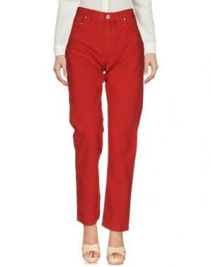 Повседневные брюки MURPHY & NYE. Цвет: красный