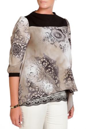 Блуза LEIDIRO. Цвет: серый, коричневый