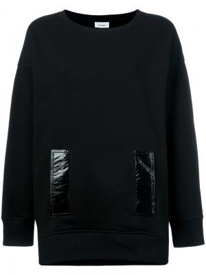 Толстовка с контрастным карманом Courrèges. Цвет: чёрный