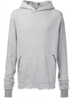 Shotgun pullover hoodie Amiri. Цвет: серый
