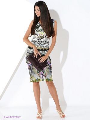 Платье Ana Alcazar. Цвет: черный, зеленый, фиолетовый, белый