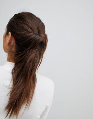 ASOS Петля для волос DESIGN. Цвет: черный