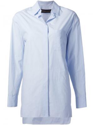 Длинная рубашка Alexandre Vauthier. Цвет: синий