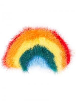 Стикер в виде радуги Anya Hindmarch. Цвет: многоцветный