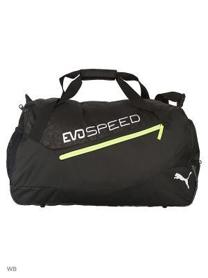 Сумка evoSPEED Medium Bag Puma. Цвет: черный, желтый