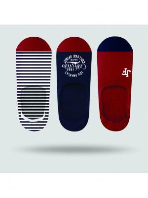 Носки мужские (3 пары) JOHN FRANK. Цвет: красный, белый, синий