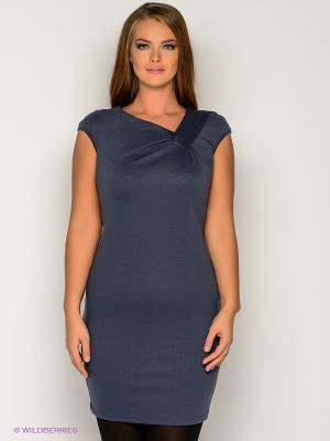Платье МадаМ Т. Цвет: темно-синий, серый
