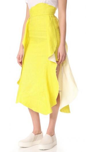 Юбка Apron A.W.A.K.E.. Цвет: желтый