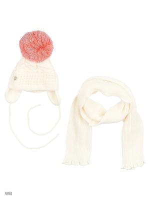 Шапка и шарф Agbo. Цвет: кремовый