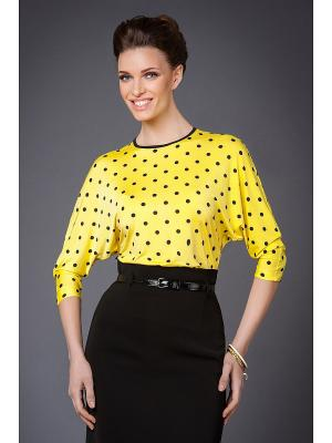 Блуза Арт-Деко. Цвет: желтый, черный