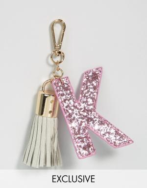 Skinnydip Брелок для ключей с буквой K. Цвет: мульти