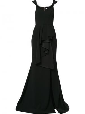 Платье в пол St. Barts Rebecca Vallance. Цвет: чёрный