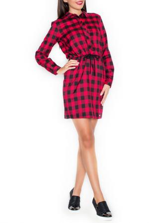 Платье KATRUS. Цвет: black and red