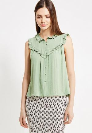 Блуза Mango. Цвет: зеленый