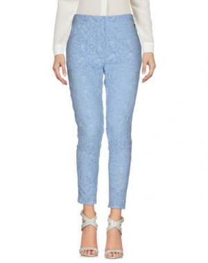 Повседневные брюки BETTY BLUE. Цвет: лазурный