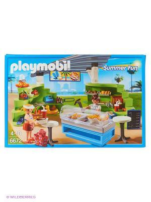 Аквапарк: Магазин летних товаров с закусочной Playmobil. Цвет: белый, зеленый, голубой