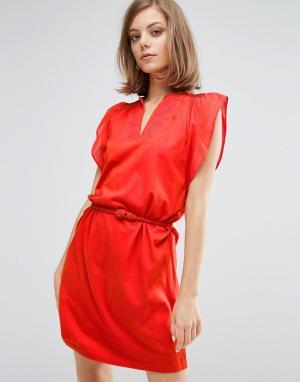 Vanessa Bruno Athé Платье-туника с отделкой Athe. Цвет: красный