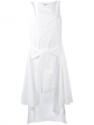 Платье с драпировкой Aalto. Цвет: белый