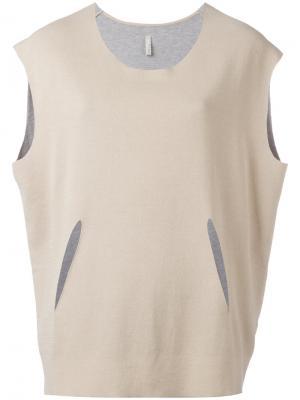 Блузка с декоративными вырезами Boboutic. Цвет: телесный