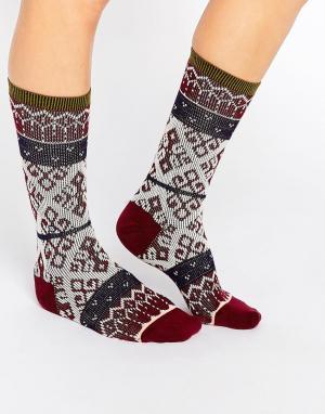 Stance Трикотажные носки Toboggan. Цвет: красный