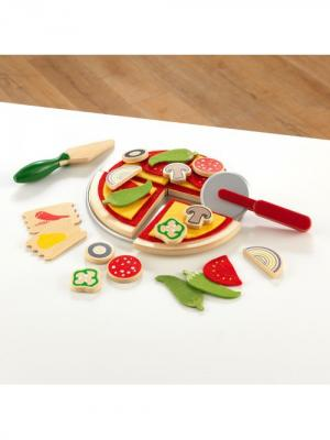 Игровой набор Пицца KIDKRAFT (КИДКРАФТ). Цвет: зеленый, желтый, красный