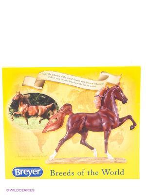 Лошадь Американской верховой породы. (American Saddlebred). Breyer. Цвет: темно-коричневый