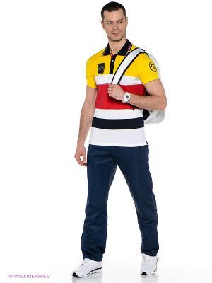 Футболка-поло RED-N-ROCK'S. Цвет: желтый, белый, красный